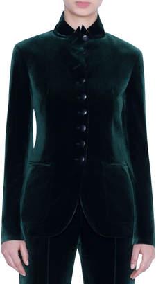 Akris Velvet 10-Button Blazer Jacket