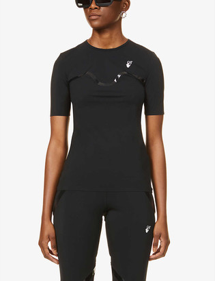 Off-White Athleisure branded stretch-jersey T-shirt