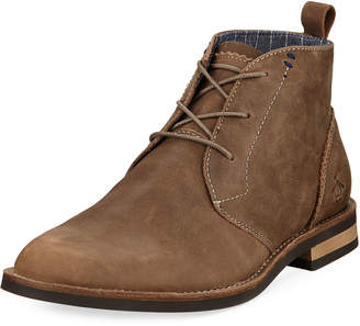 Original Penguin Monty Leather Lace-Up Boot, Brown