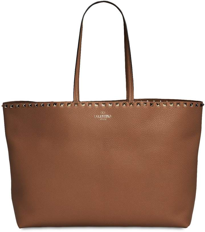 Valentino Large Rockstud Leather Tote