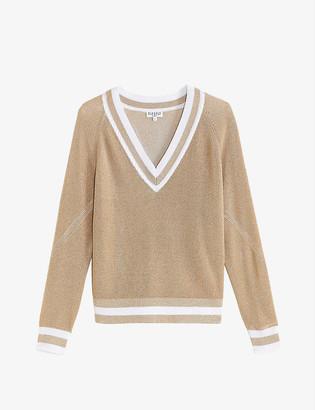 Claudie Pierlot My Chic V-neck woven jumper