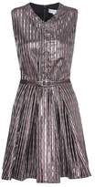 Carven Metallic striped dress