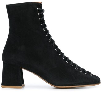 BY FAR Lace Up Ankle Boots