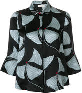 L'Autre Chose textured abstract print shirt