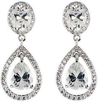 Apples & Figs Crystal-Embellished Drop Earrings