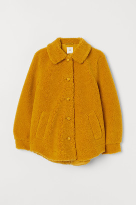 H&M Pile jacket with a collar