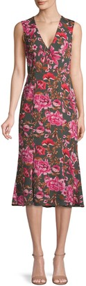 Fame & Partners The Bianca Floral Midi Dress
