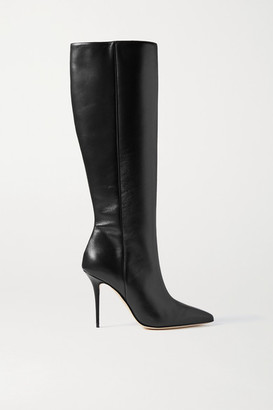 Manolo Blahnik Desida Leather Knee Boots - Black