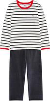 Petit Bateau Two-piece velvet pyjamas