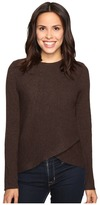Christin Michaels Louisa Cross Front Crew Neck Cashmere Sweater