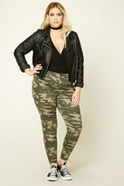 Forever 21 FOREVER 21+ Plus Size Camo Print Jeans