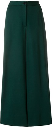 Talbot Runhof Wide-Leg Cropped Trousers