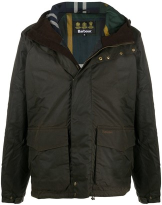 Barbour Single-Breasted Wax Jacket