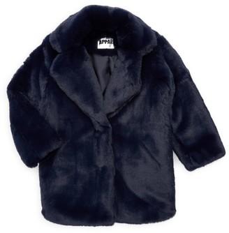 Apparis Little Girl's & Girl's Sophie Faux Fur Coat