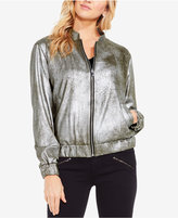 Vince Camuto TWO By Foiled Pontandeacute;-Knit Bomber Jacket