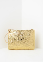 Missguided Gold Metallic Hoop Handle Clutch Bag