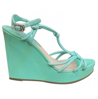Celine \N Turquoise Patent leather Sandals