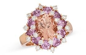 Bloomingdale's Multi-Gemstone & Diamond Ring in 14K Rose Gold - 100% Exclusive