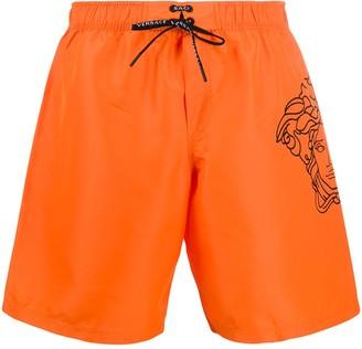 Versace Pop Medusa knee-length swim shorts