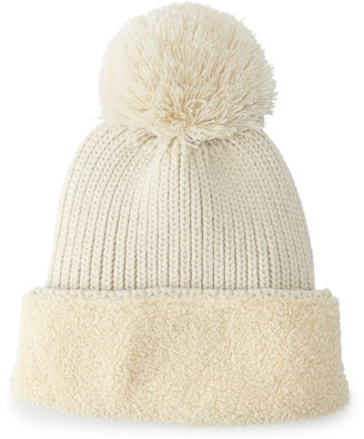 Women's Koolaburra by UGG Knit Cable Faux Sherpa Cuff Pom Hat