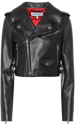 Loewe Cropped leather jacket