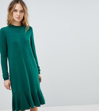 Y.A.S Tall Knitted Dress With Peplum