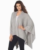 Soma Intimates Chic Lite Weekend Blanket Wrap Heathered Pewter/Pearl