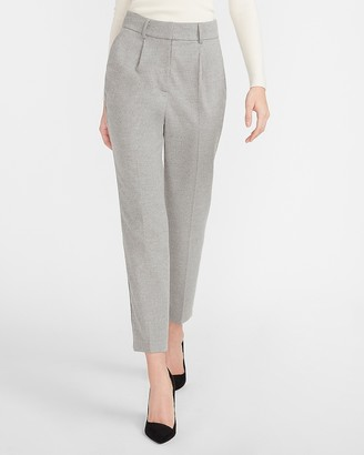 Express High Waisted Tapered Flannel Ankle Pant