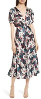 Saloni Women's Lea Silk Midi Dress