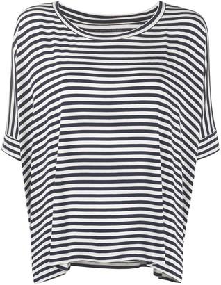 Majestic Filatures striped asymmetric-hem T-shirt