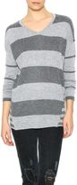 Love Stitch Lovestitch Gray Striped Sweater