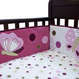 Lambs & Ivy Raspberry Swirl Crib Sheet