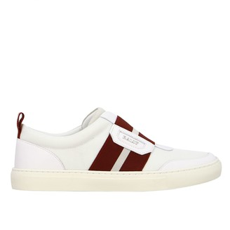 Bally Sneakers Hemon-t Leather Sneakers With Striped Band