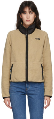 The North Face Tan and Black Dunraven Sherpa Crop Jacket
