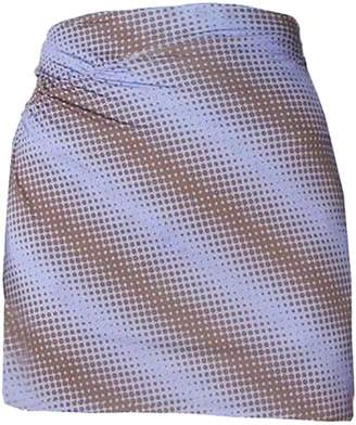 Maisie Wilen ruched mini skirt, purple brown