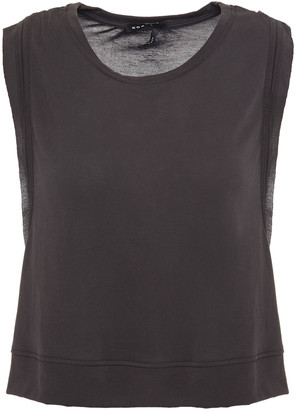Koral Cropped Paneled Modal-blend And Stretch-mesh Tank