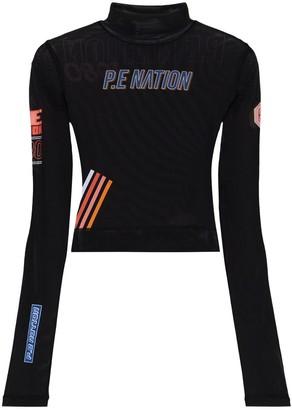 P.E Nation Lead Racer mesh top