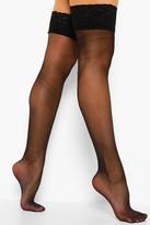 boohoo Lola Lace Top Stockings