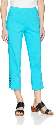 Slim Sation SLIM-SATION Women's Petite Pull On Solid Corp with Real Front and Back Pockets and Straps
