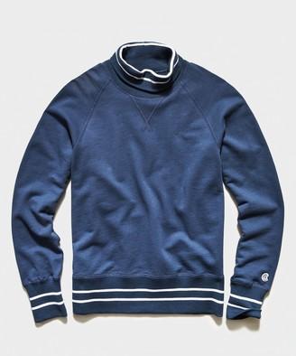 Todd Snyder + Champion Tipped Turtleneck Sweatshirt in Hale Navy
