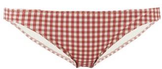 Belize - Winona Gingham Seersucker Bikini Briefs - Red Print