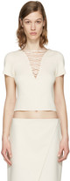 Alexander Wang Beige Lace-Up Pullover