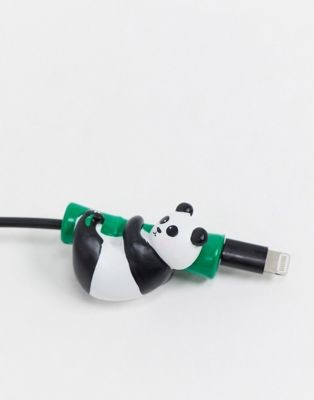 Typo cable cover in rolling panda shape