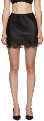 I.D. Sarrieri Black Silk Slip Skirt