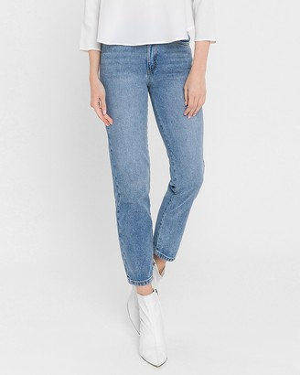 Express English Factory High Waisted Straight Jeans