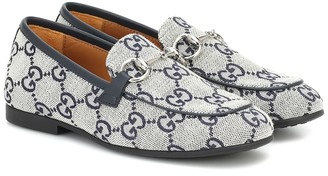 Gucci Kids GG canvas loafers