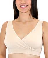 Leading Lady Nude Crossover Cotton Seamless Nursing/Maternity Bra - Plus Too