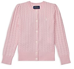 Ralph Lauren Polo Girls' Cable-Knit Cardigan - Little Kid