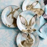 Williams-Sonoma Damask Bunny Salad Plates Mixed, Set of 4