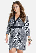 Fashion to Figure Sasha Mixed Chevron Wrap Dress